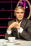 Museo de la cera de George Clooney Figurine At Madame Tussaud Fotos de archivo