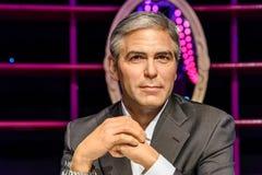 Museo de la cera de George Clooney Figurine At Madame Tussaud Foto de archivo