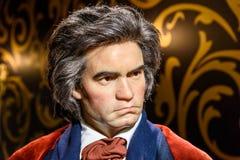 Museo de la cera de Ludwig van Beethoven Figurine At Madame Tussauds Imágenes de archivo libres de regalías