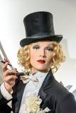 Museo de la cera de Marlene Dietrich Figurine At Madame Tussauds Imagen de archivo libre de regalías