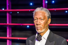 Museo de la cera de Morgan Freeman Figurine At Madame Tussauds Foto de archivo libre de regalías