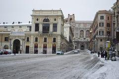 Museo de la cera de Roma bajo nieve Imagenes de archivo