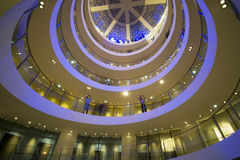 Museo de la escalera espiral en la Arabia Saudita foto de archivo libre de regalías