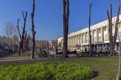 Museo de la historia en el centro de la ciudad de Haskovo, Bulgaria imagen de archivo libre de regalías