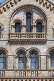 Museo de la historia natural con la fachada adornada de la terracota, Londres, Reino Unido Imagen de archivo
