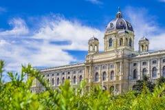 Museo de la historia natural, Viena Maria Theresa Square Imagen de archivo libre de regalías