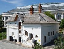 Museo de la historia de la vieja corte inglesa en el parque de Zaryadye en Moscú fotos de archivo libres de regalías