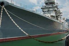 Museo de la nave de guerra Fotos de archivo