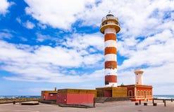 Museo de la Pesca Tradicional - Leuchtturm EL Cotillo Lizenzfreies Stockfoto