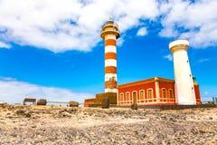 Museo de la Pesca Tradicional - Leuchtturm EL Cotillo Lizenzfreies Stockbild