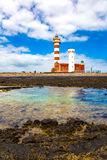 Museo de la Pesca Tradicional - light house El Cotillo Royalty Free Stock Photos
