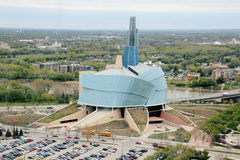 Museo de los derechos humanos en Winnipeg fotos de archivo