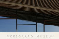 Museo de Moesgaard cerca de Aarhus en Dinamarca Foto de archivo libre de regalías