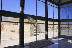Museo de mosaicos en el desierto de Judea fotos de archivo