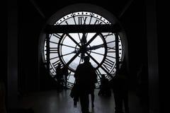 Museo de Orsay, reloj de Musee D Orsay, reloj gigante imagenes de archivo