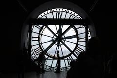 Museo de Orsay, reloj de Musee D Orsay, reloj gigante fotografía de archivo