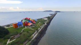 Museo de Panamá con el techo abstracto moderno y artístico Imagen de archivo libre de regalías