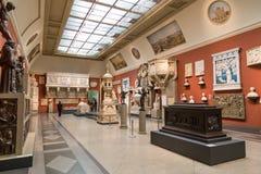 Museo de Pushkin de bellas arte en Moscú Imagenes de archivo