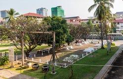 Museo de Tuol Sleng/21 genocidios, Phnom Penh, Camboya Fotos de archivo