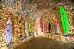 Museo dei surfisti di Nazare Immagine Stock