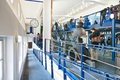 Museo del abastecimiento de agua de Praga, central depuradora de Podoli, Praga, checa Fotografía de archivo