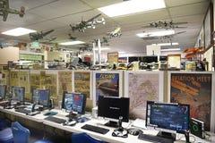 Museo del aire del Palm Springs de los simuladores de vuelo Imagen de archivo libre de regalías