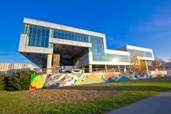 Museo del arte contemporáneo en Zagreb imagen de archivo libre de regalías