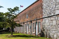 Museo del Casemate a Fort Monroe a Hampton, la Virginia immagini stock libere da diritti