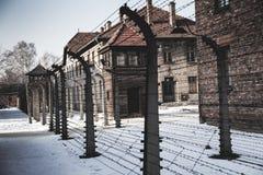 Museo del crematorio di olocausto accanto alla camera a gas Posto scuro terribile in un campo di concentramento Fotografie Stock Libere da Diritti