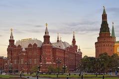 Museo del estado de la historia cerca de la Plaza Roja en Moscú Foto de archivo libre de regalías