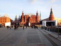 Museo del estado y el Kremlin históricos de Moscú fotos de archivo libres de regalías