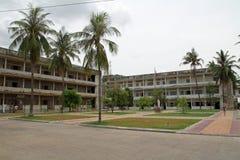Museo del genocidio de Tuol Sleng en Phnom Penh foto de archivo libre de regalías