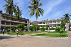 Museo del genocidio de Tuol Sleng, Phnom Penh, Camboya Imágenes de archivo libres de regalías