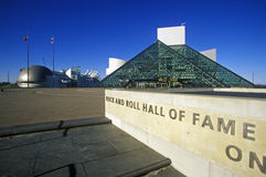 Museo del hall of fame di rock-and-roll, Cleveland, OH Fotografia Stock