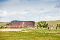 Museo del holocausto en la rodilla herida, pino Ridge Indian Reservation, imagen de archivo