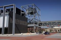 Museo del motociclo di Harley Davidson a Milwaukee, WI fotografia stock libera da diritti