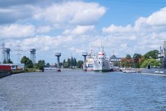 Museo del océano del mundo en Kaliningrado Rusia Foto de archivo libre de regalías
