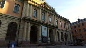 Museo del premio Nobel, Stoccolma, Svezia stock footage