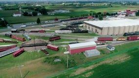 Museo del tren de ferrocarril de Pennsylvania según lo visto por el abejón almacen de video