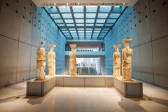 Museo dell'acropoli nel punto di vista della parte di destra di Atene? Immagini Stock Libere da Diritti