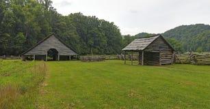 Museo dell'azienda agricola della montagna al parco nazionale di Great Smoky Mountains Fotografia Stock Libera da Diritti