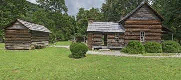 Museo dell'azienda agricola della montagna al parco nazionale di Great Smoky Mountains Immagini Stock Libere da Diritti