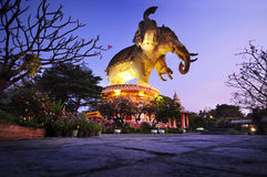 Museo dell'elefante di Erawan in Tailandia Fotografia Stock Libera da Diritti