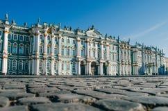 Museo dell'Ermitage dell'alloggio della costruzione del palazzo di inverno Fotografie Stock