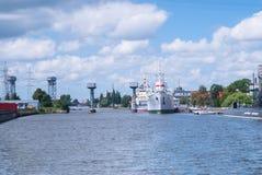 Museo dell'oceano del mondo a Kaliningrad La Russia Fotografia Stock Libera da Diritti
