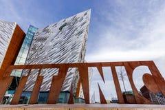 Museo dell'ospite di Titanic Belfast immagine stock libera da diritti