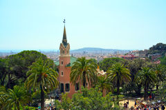 Museo della Camera di Gaudi nell'auna del ¼ del parco GÃ Immagine Stock