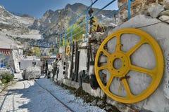 Museo della cava del marmo di Fantiscritti Alpi di Apuan Provincia di Carrara e di Massa tuscany L'Italia Fotografia Stock Libera da Diritti