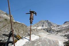 Museo della cava del marmo di Fantiscritti Alpi di Apuan tuscany L'Italia Immagine Stock