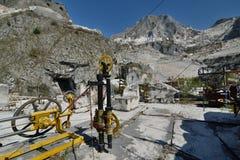 Museo della cava del marmo di Fantiscritti Alpi di Apuan tuscany L'Italia Immagini Stock